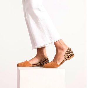 TOMS Carmel Brown Suede Jutti D'orsay Flats